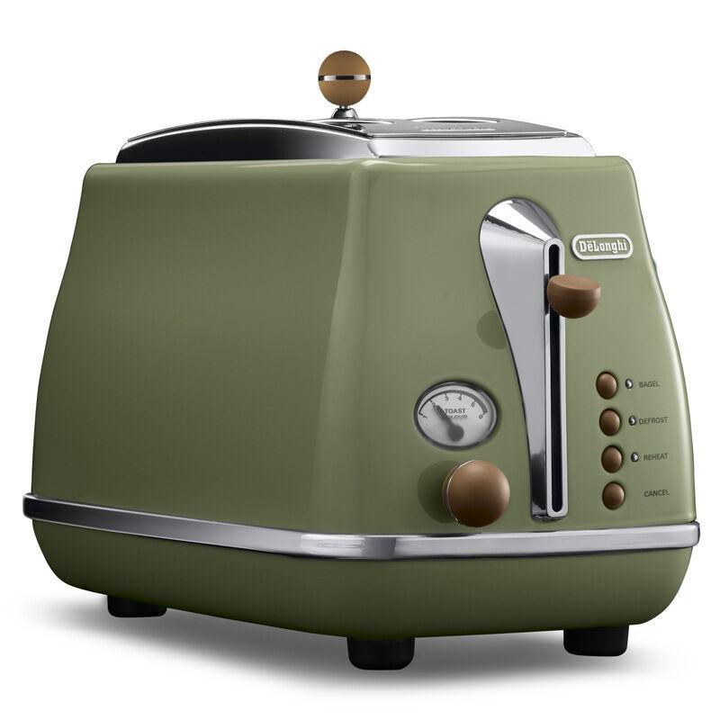 德国直邮 意大利德龙(Delonghi)CTOV 2103.GR 多士炉 面包机 吐司机 烤面包机 复古绿
