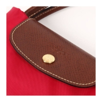 德国直邮 LONGCHAMP 珑骧 女款小号短柄绛红色尼龙手提包 1621089270