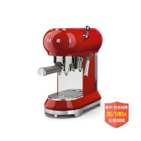 意大利 Smeg ECF01 Espresso 咖啡机 可打奶泡 红色ECF01...