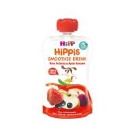 德国直邮 德国喜宝HiPP有机果泥吸吸乐 苹果+桃子+树莓味 120ml