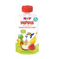 国内现货 德国喜宝HiPP有机果泥吸吸乐 草莓+香蕉+苹果味 100g