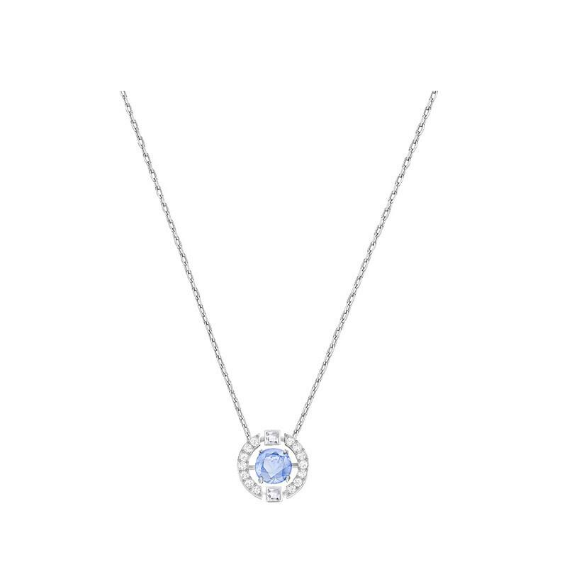 (包邮包税)德国直邮 施华洛世奇Swarovski跳动的心 蓝色水晶项链 5279425