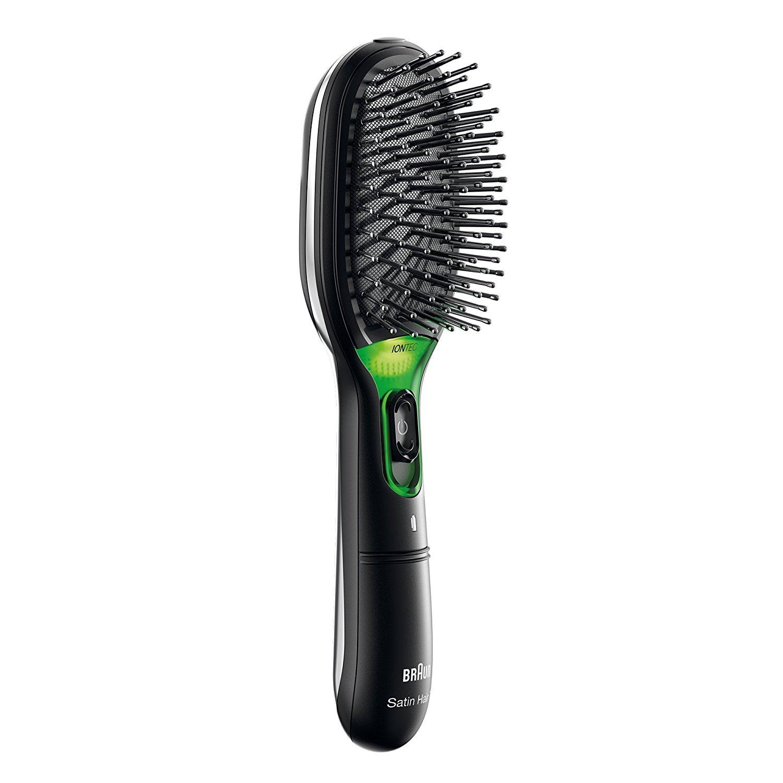 德国直邮 Braun博朗干电式负离子发梳 自动断电护发防静电 Stain Hair Haarbürste  BR710 黑色