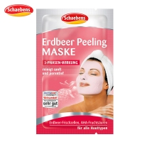 保税直发 德国Schaebens Erdbeer Peeling Maske面膜世家雪本诗草莓清洁面膜 2x6ml