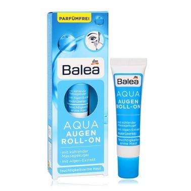 德国 DM超市热销同款 Balea AQUA芭乐雅蓝藻精华补水保湿滚珠眼霜15ml