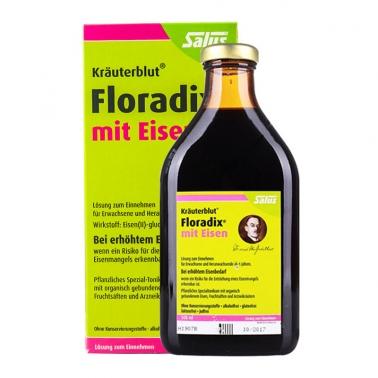 德国直邮 德国Salus Floradix绿版铁元 孕妇成人补铁补气补血圣品绿铁 500ml 气柱包装