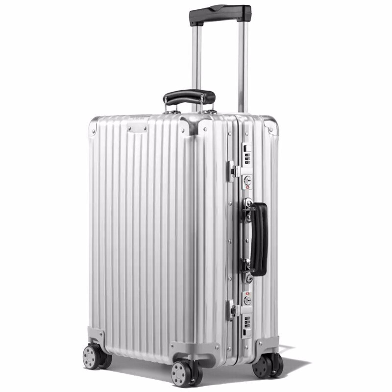 德国直邮 RIMOWA日默瓦新款 CLASSIC 系列银色拉杆箱登机箱 【新款】21寸-登机箱 972.53.00.4