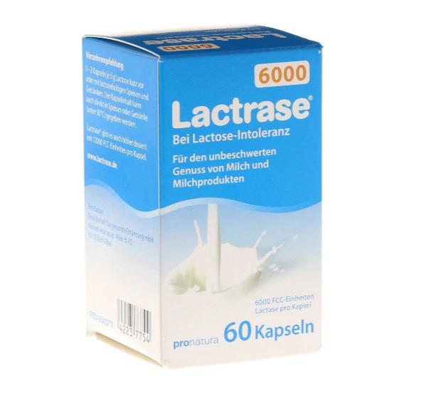 【保税直发】Lactrase乳糖酶 婴儿奶伴侣 6000单位乳糖不耐受 60粒装
