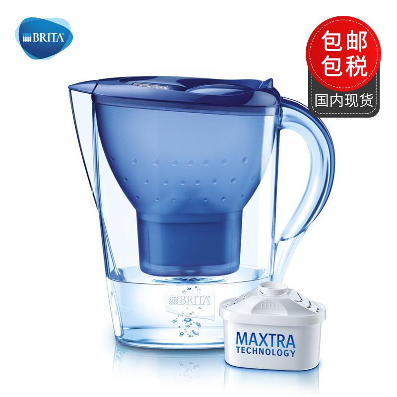保税直发 德国BRITA Marella碧然德滤水壶金典系列 含一个滤芯 2.4L 蓝色