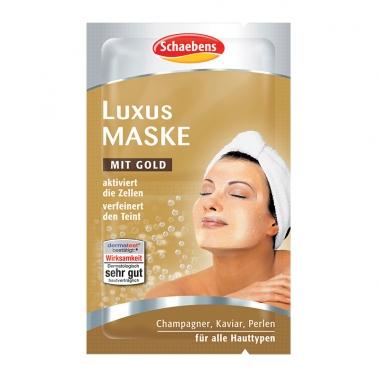 德国直邮 德国Schaebens Luxus Maske面膜世家雪本诗黄金豪华全效面膜 2x5ml