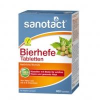 德国直邮 Sanotact纯天然啤酒酵母片 400粒装