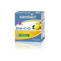 德国直邮 Sanotact 综合维生素锌维生素C维生素D Zink + C + ...
