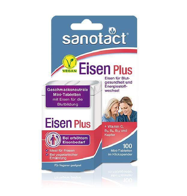 保税直发 Sanotact 铁元素补充片剂 Eisen Plus