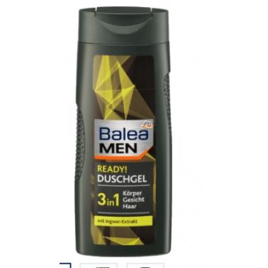 德国 DM超市热销同款 芭乐雅Balea MEN Duschgel ready 沐浴露 300ml 3合1