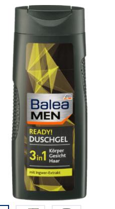 德国直邮 芭乐雅Balea MEN Duschgel ready 沐浴露 300ml 3合1 4瓶包邮包税