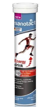 保税直发 sanotact 能量补充泡腾片 Energie Drink(红牛效果) 20片/支