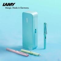 保税直发 Lamy凌美马卡龙三色礼盒(蓝)含狩猎者钢笔、吸墨器、一次性墨水芯、笔袋