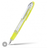 德国欧领(ONLINE) AIR系列半透明钢笔/墨水笔商学生练字 F尖 黄色 F...