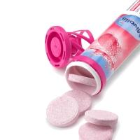 保税直发 Mivolis (DAS gesunde PLUS) 维生素泡腾片含钙镁铁补充VC 果味饮料 粉盖 维生素B12 草莓味 20片/支