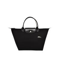 德国直邮 珑骧Longchamp手提包 短柄小号 黑色 LE PLIAGE CLUB系列 L1621619001