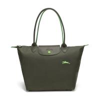 LONGCHAMP 珑骧 女士LE PLIAGE 系列织物小号长柄可折叠手提包 ...