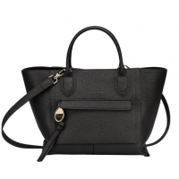 德国直邮 珑骧Longchamp 手提包 黑色 中号 10104HTA001